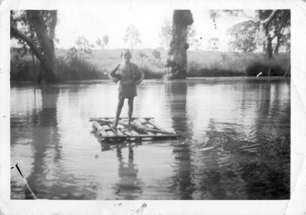 Me my raft and my Galah, from the city to the bush